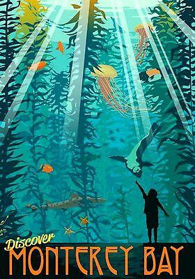 Magnet Travel Photo Magnet Monterey Bay California Aquarium