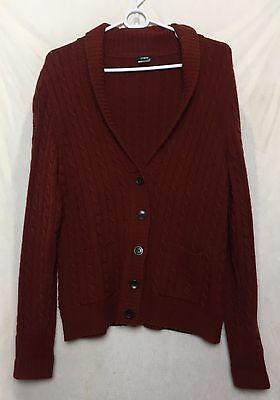 J Crew Women Shawl Collar Cardigan Large Button Front Long Sleeve Sweater r