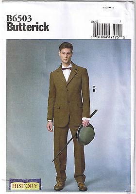 Herren Viktorianisch Anzug Mantel Manschette Hose Cosplay Kostüm Nähen Muster (Herren Kostüm Nähen Muster)