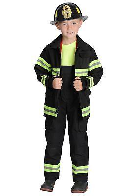 Boys Black Fireman Costume](Male Fireman Costume)