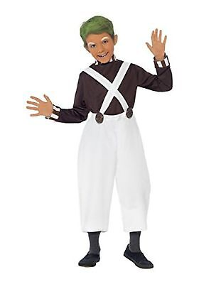 Boys Candy Creator Umpa Lumpa Factory Worker Fancy Dress Costume Age 10 - 12