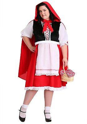 ADULT PLUS SIZE LITTLE RED RIDING HOOD COSTUME SIZE 1X (with defect)](Little Red Riding Hood Costume Plus Size)