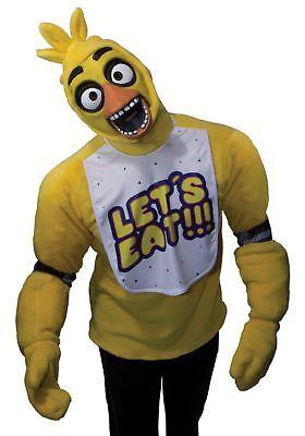 Chica Erwachsene Kostüm Fünf Nächte Im Freddys Top Handschuhe und Maske Teen