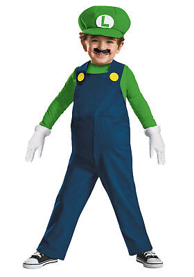 Super Mario Bros - Luigi Deluxe Toddler Costume (Disguise - Luigi Toddler Costume