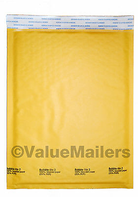 400 2 8.5x12 Bubble Lite Kraft Bubble Mailers Padded Envelopes Bags 100.4