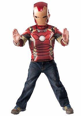 Avengers Age of Ultron Iron Man Boys Muscle Costume Marvel 4-6 NEW Box 31479