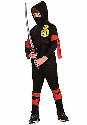 Ninja Halloween Costumes Child (Japanese Cobra Ninja Child Halloween Costume Red Black Size 12-14 Dress Up)
