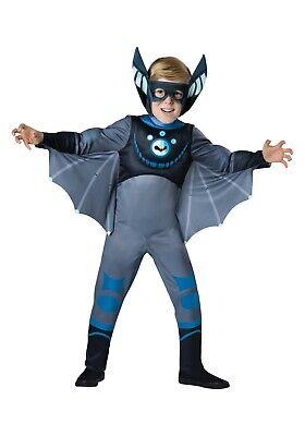 CHILD WILD KRATTS BLUE BAT COSTUME SIZE SMALL 6 (with - Wild Kratt Costume