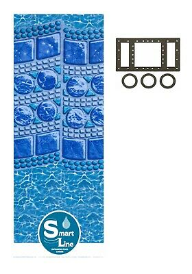 Above Ground Pool Liner (Round & Oval Above Ground Swirl Tile Swimming Pool Overlap Liner w/ Gasket Kit )