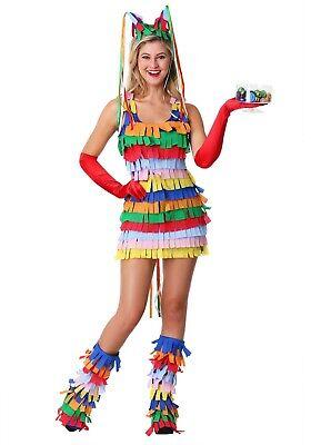 Women's Sexy Mexican Pinata Costume Size XS XL (missing headband)