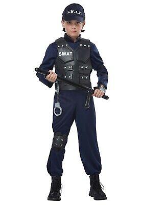 CHILD'S JUNIOR SWAT COSTUME SIZE MEDIUM 8-10 (with defect)