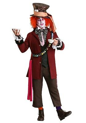 MEN'S AUTHENTIC MAD HATTER COSTUME SIZE XL (with defect)](Mad Hatter Costume For Men)