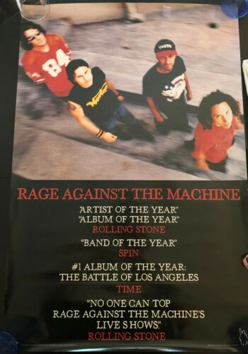 RAGE AGAINST THE MACHINE LOS ANGELES OG PROMO POSTER EX COND NEVER HUNG 24X36