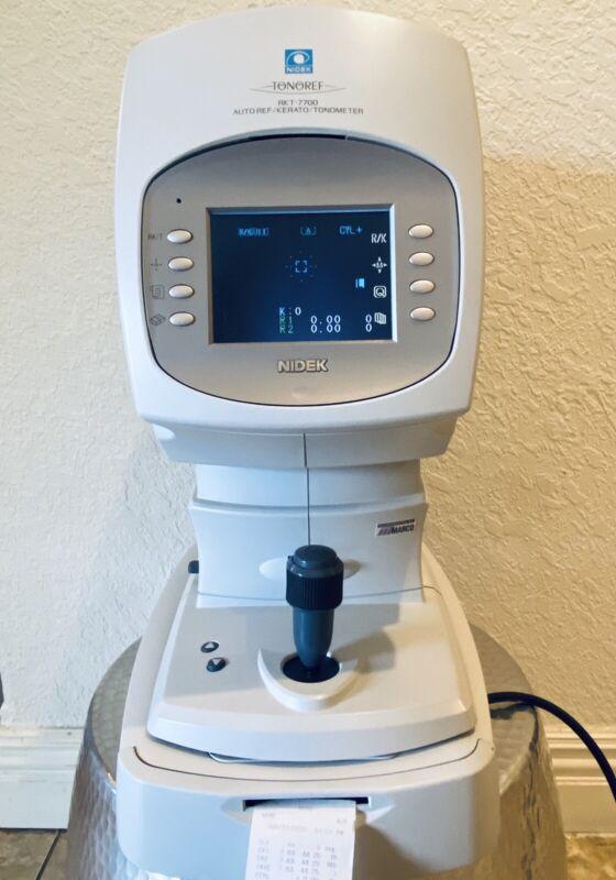 NIDEK RKT 7700 Autorefractor Keratometer Tonometer In Excellent Condition