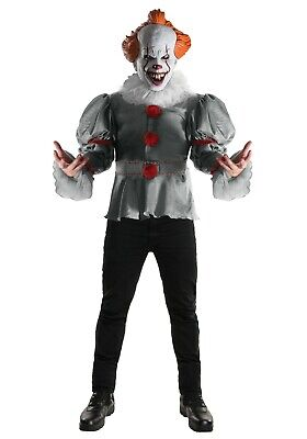 ADULT DELUXE IT MOVIE PENNYWISE CLOWN COSTUME SIZE STANDARD (Used, with - Pennywise It Costume