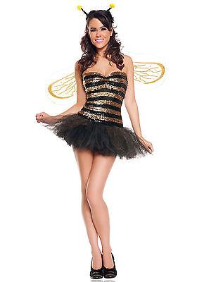 NEW STARLINE SEXY SEQUINS HONEY BEE BUMBLEBEE Halloween - Sexy Bumblebee Kostüme