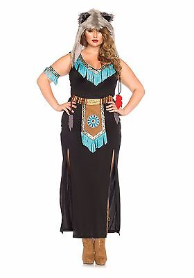Wolf Warrior Plus Size Costume for Women size 1X/2X New by Leg Avenue 85385X - Women Wolf Costume