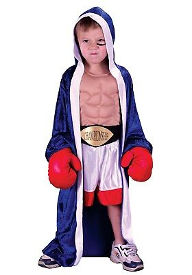 CHILD LIL' CHAMP BOXER COSTUME SIZE SMALL 4-6 (missing belt) - Child Boxer Costume