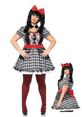 Delux Darling Baby Doll  Costume, Leg Avenue, Halloween, 16-20, Dead Dollie (Baby Deluxe Halloween Kostüme)
