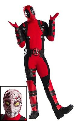 PREMIUM MARVEL DEADPOOL PLUS SIZE MENS COSTUME SIZE 2X (w/defect)