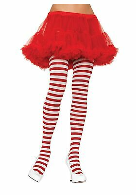 Plus Size White / Red Striped Tights](Red Striped Tights)