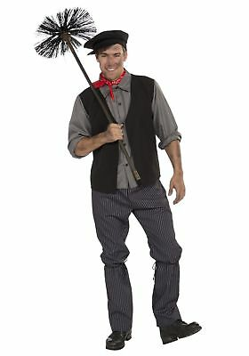 Chimney Sweep Men Adult Costume Standard Victorian Character Mary Poppins Style (Mary Poppins Characters Costumes)