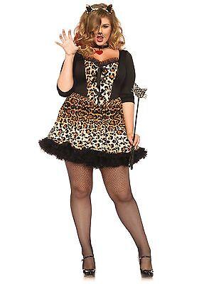LAG Leg Avenue 85504X Fasching Damen Kostüm Katze Wildkatze Raubkatze Cat (Katze Kostüme Leg)