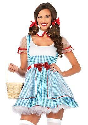 Sexy Costume Carnevale Donna Alice Vestito Quadretti Belle Lolita Leg Avenue S/M
