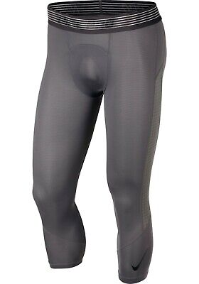 Nike Men's Pro 3/4 Length Compression Grey Tights size Small