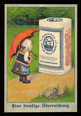Grosse alte Lithographie Werbung Reklame 1914 Kathreiners Kneipp-Malz-Kaffee