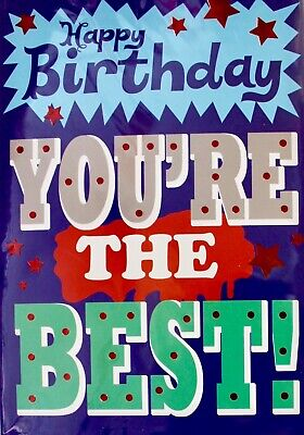 Happy Birthday you're the best! greeting card, open Birthday, message
