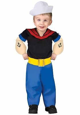 Popeye Toddler Costume Size 3T-4T Large Child Fun World Complete Costume