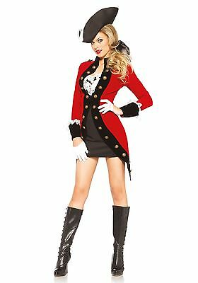 IAL Leg Avenue 85386 Rebel Pirate Red Coat Piratin Pirat Damen Kostüm S - - Damen Piraten Kostüm Leg Avenue