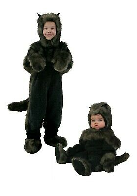 TODDLER BLACK DOG COSTUME SIZE 4T (missing hood)