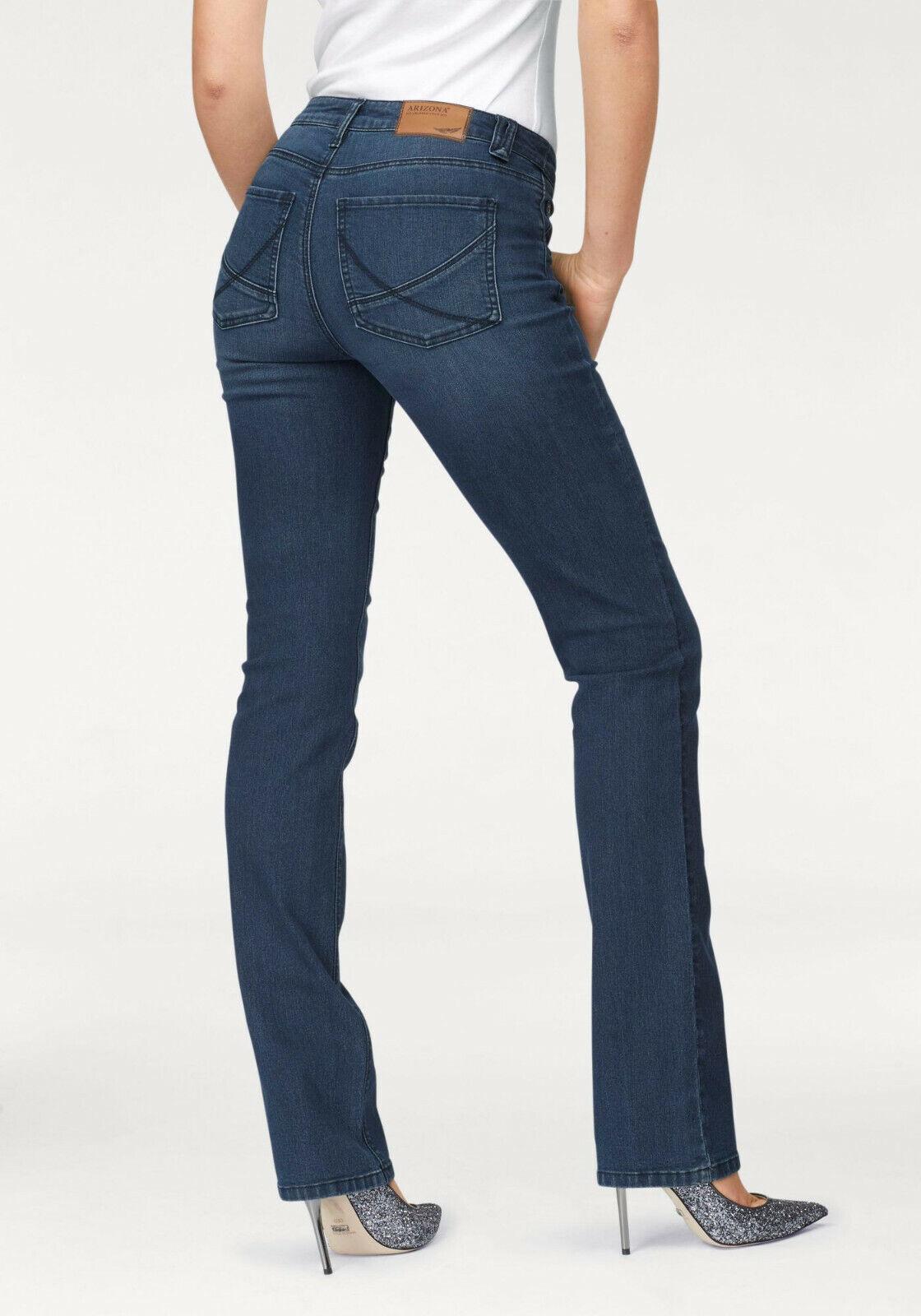 Details zu Arizona Gerade Jeans »Nathalie« blue used. Kurz Gr. NEU!!! KP 49,99 €