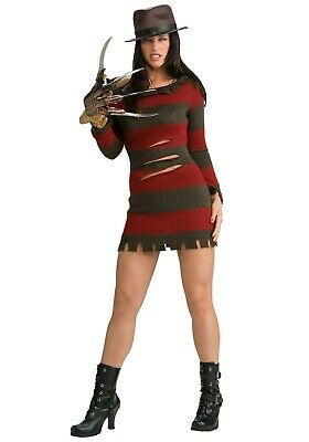 WOMEN'S MISS FREDDY KRUEGER COSTUME SIZE XS L 1X (with defect)