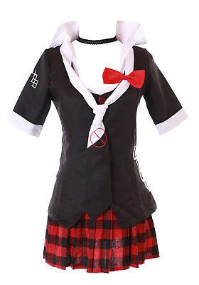 MN-41 Danganronpa Junko Enoshima 6-teilig schwarz Gothic Kostüm Cosplay Manga (Enoshima Junko Kostüm)