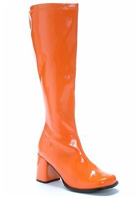 Orange Gogo Boots