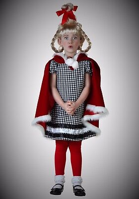 Toddler Xmas Girl Whoville Cindy Costume Children Outfit Kid Baby Child Gift 4T
