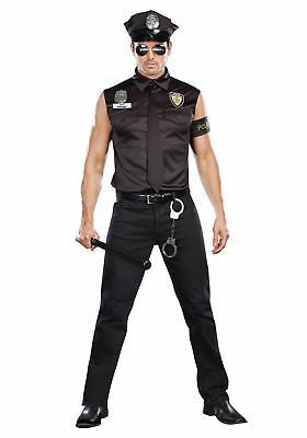 Mens Dirty Cop Halloween Costume (Dreamgirl Dirty Cop Officer Police Ed Banger Adult Mens Halloween Costume)