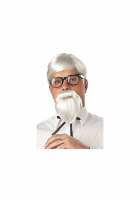 California Costumes 70106 The Colonel Wig And Beard And Moustache (White;OS)