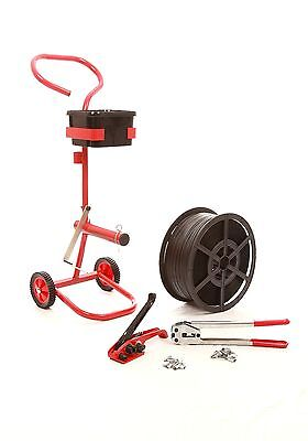 Strapping Banding Kit, Tools Strapping Dispenser Trolley & 2000 Seals