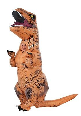 CHILD KIDS INFLATABLE JURASSIC WORLD T-REX COSTUME SIZE STANDARD (with defect)