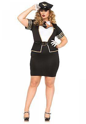 IAL Leg Avenue 85423X Damen Kostüm Pilot Flieger Jet Stewardesss Officer - X Pilot Kostüm