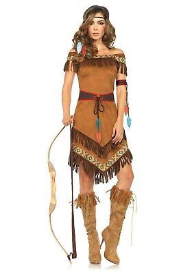WOMEN'S NATIVE AMERICAN INDIAN PRINCESS COSTUME SIZE M/L (with - Native Indian Princess Kostüm