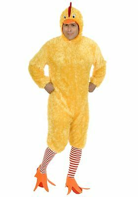 Funky Costumes (Soft Funky Chicken Yellow Adult Costume Microfiber Jumpsuit Animal Bird)