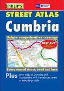 PHILIPS STREET ATLAS CUMBRIA,ORDNANCE SURVEY,ROAD MAPS, BRAND NEW PAPERBACK
