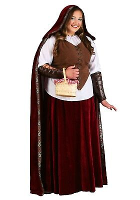 WOMEN'S PLUS SIZE DELUXE LITTLE RED RIDING HOOD COSTUME USED SIZE 5X](Little Red Riding Hood Costume Plus Size)