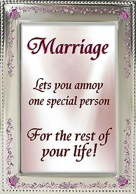 MAGNET Humor Fridge MARRIAGE Annoy One Special Person Rest of Your Life (Personalized Refrigerator Magnets)