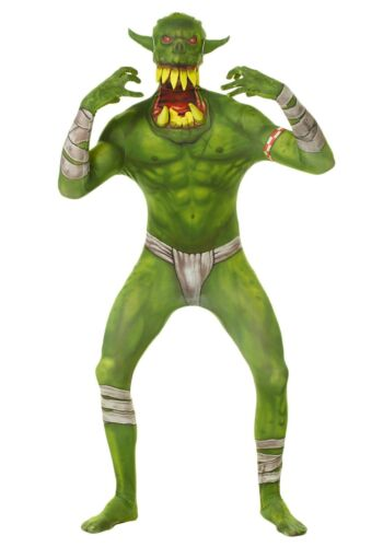 MORPHSUIT COSTUME GREEN ORC JAW DROPPER HALLOWEEN 1 PC BRAND NEW CHILD LARGE